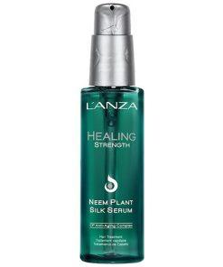 lanza healing strengt neem plant silk serum hårolja